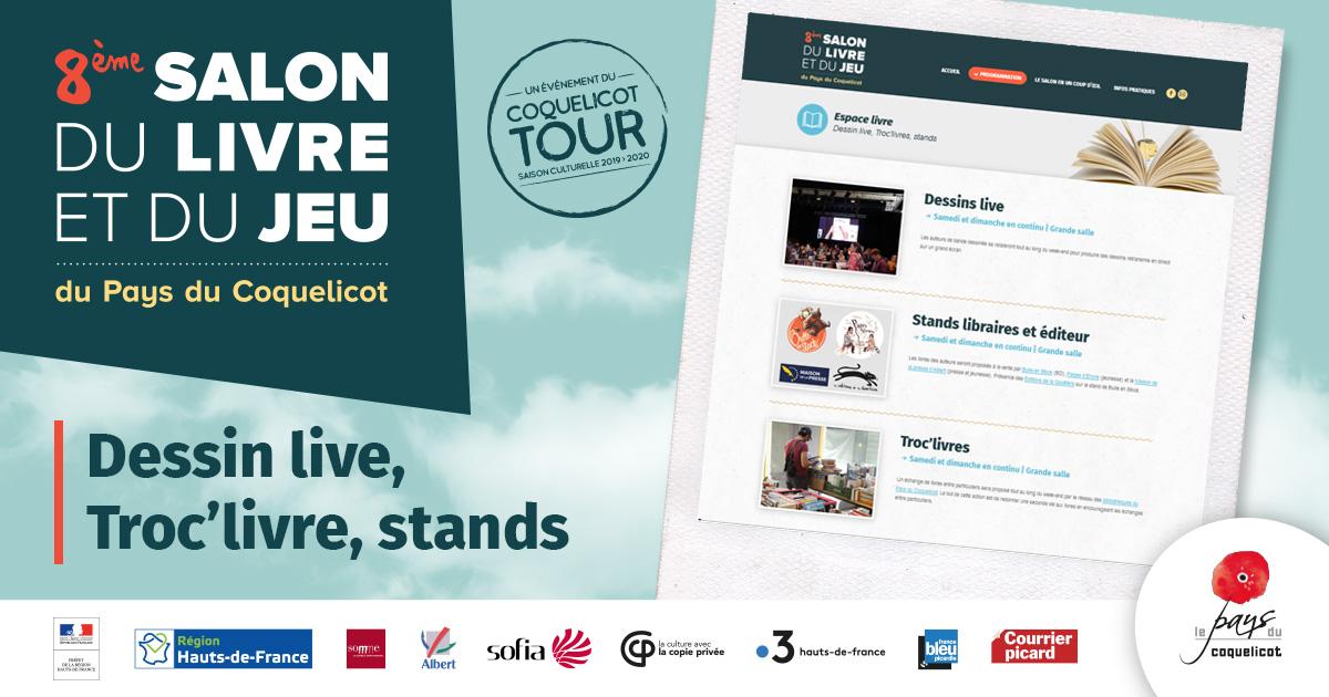 Dessin Live Troc Livres Stands 8eme Salon Du Livre Et Du